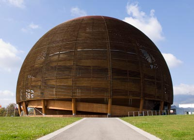 Photograph showing buildings at CERN