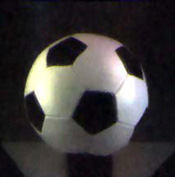 Image of a football taken with the Bell Labs system