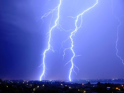 Photograph of lightning