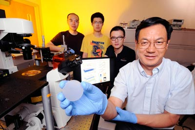 Zhong Lin Wang and his research team in the lab