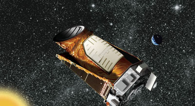 An artist's impression of the Kepler spacecraft