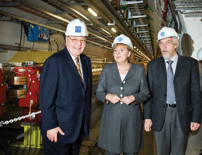 Angela Merkel visiting CERN