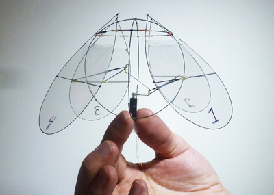 Photograph of the jellyfish-like ornithopter