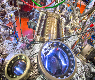 Photograph of the beamline at Berkeley Lab where Yulin Chen and colleagues did their ARPES measurements