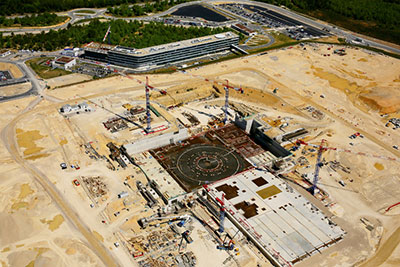 An aerial view of the ITER site