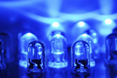 Image of blue LEDs