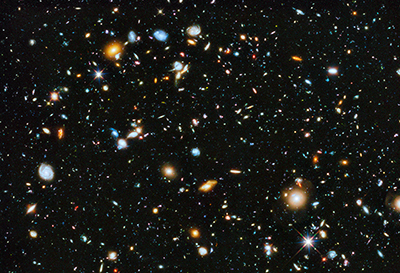 Hubble Ultra-Deep Field image of thousands of galaxies